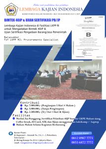bimtek dan ujian sertifikasi barang jasa pemerintah